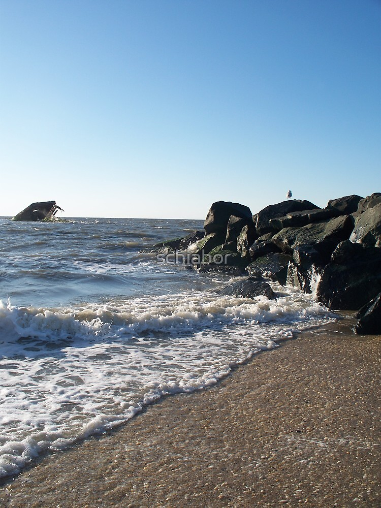 Backwash On Sunset Beach West Cape May by schiabor