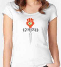 Hunter S. Thompson Gonzo Sticker & Shirt Women's Fitted Scoop T-Shirt