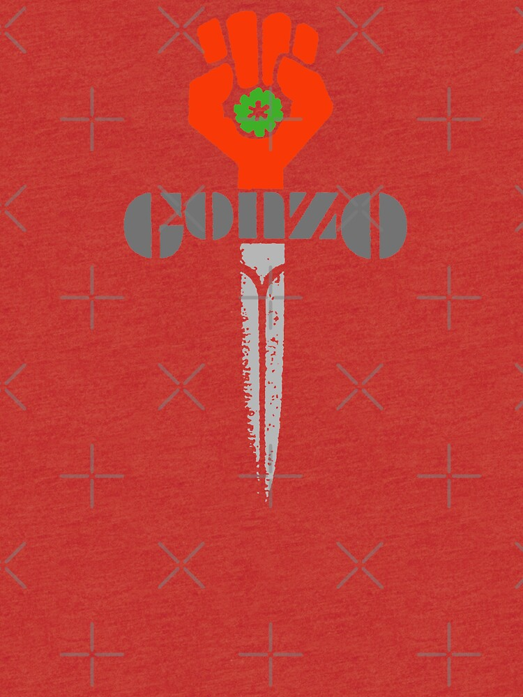 Hunter S Thompson Gonzo Sticker Shirt Tri Blend T Shirt By