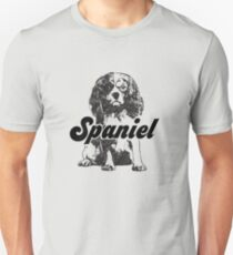 Vintage King Charles Spaniel Funny Pet Dog  Unisex T-Shirt