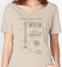 Guitar patent from 1955 Women's Relaxed Fit T-Shirt