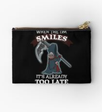 DND When the DM Smiles It's Already Too Late Gift for Dungeon Crawlers and Tabletop Gamers Studio Pouch