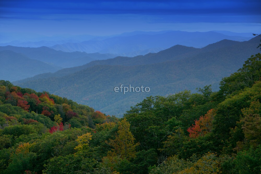 Autumn in the Smoky Mountains by efphoto