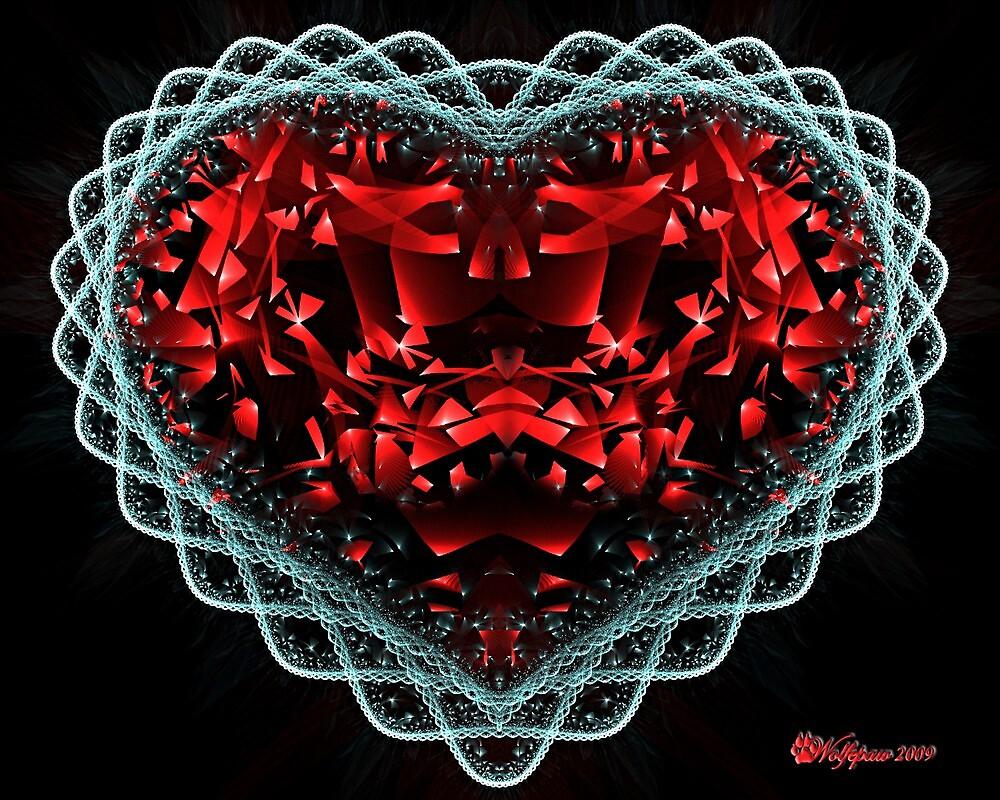 Ruby and Diamond Heart by wolfepaw