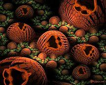 The Happy Halloween Pumpkin Patch by wolfepaw