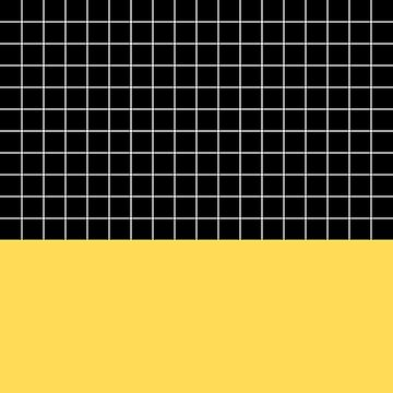 White Grid On Black Above Mustard Yellow by rewstudio