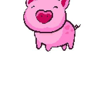 Pink Piggy | 8 Bit Pixel Art by ctaylorscs