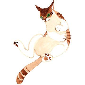 Gongfu Cat by jjsgarden