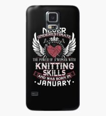 005 - JANUARY KNITTING LADY Case/Skin for Samsung Galaxy