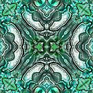 Teal abstract metallic by MelDavies