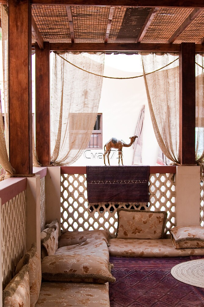 Middle Eastern traditional reception area by Cvail73