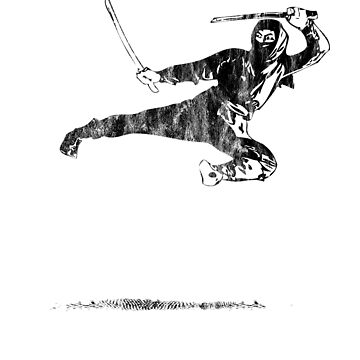 Ninja Warrior Fighting Martial Arts Training Black by zot717