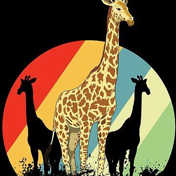 Giraffe herds by GeschenkIdee