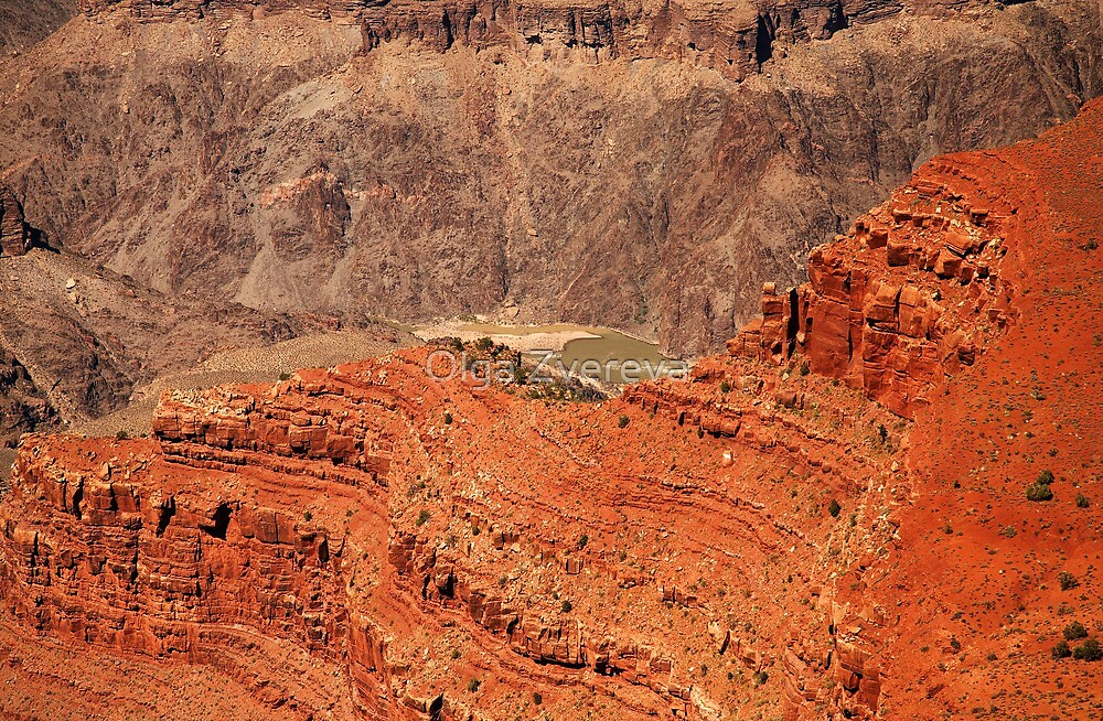 Grand Canyon Layers by Olga Zvereva