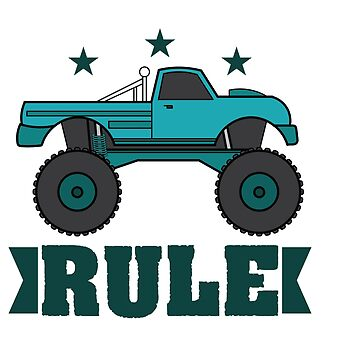 """Monster Trucks Rule"" luxurious and glorious inspired tee design for rider like you! by Customdesign200"