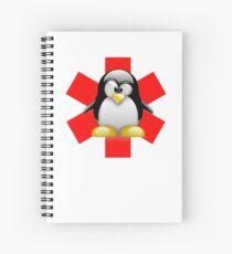 LINUX TUX PENGUIN HOSPITAL Spiral Notebook