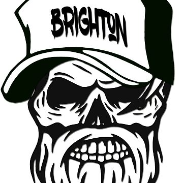 Brighton England Hometown Hipster Skull Trucker Cap Death by lemmy666