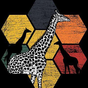 Giraffes nature by GeschenkIdee