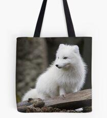 An Arctic Fox in its Winter Coat Tote Bag