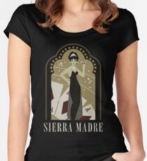 Sierra Madre Poster Design Women's Fitted Scoop T-Shirt
