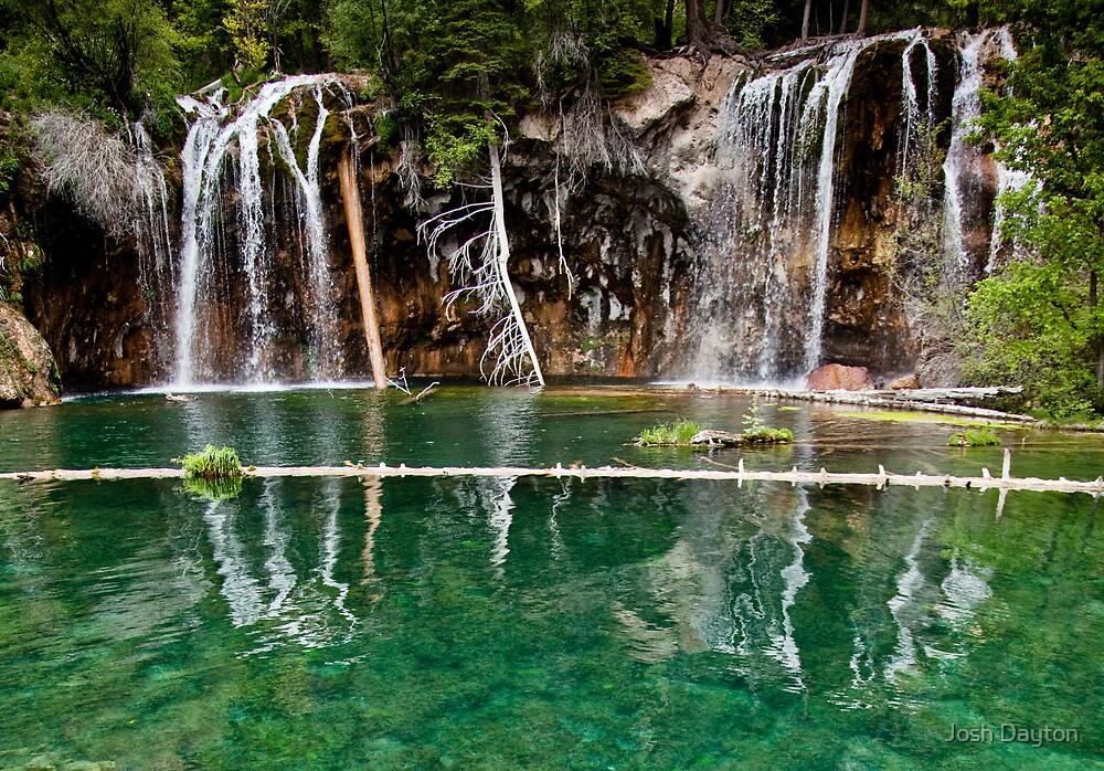High season at Hanging Lake by Josh Dayton