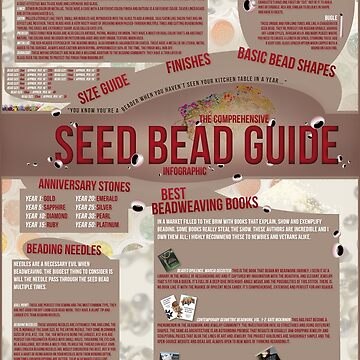 Seed Bead Guide Infographic by Jarrod44