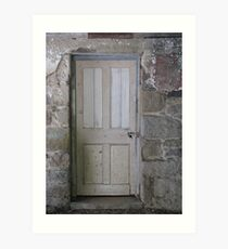 Old door - homestead - Greenvale Art Print