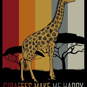 Giraffe animal lover by GeschenkIdee