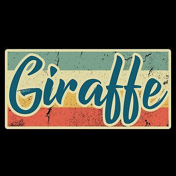 Giraffe acacia by GeschenkIdee