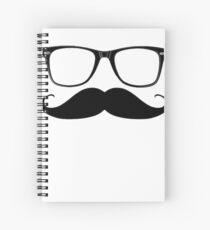Glasses & Moustache Spiral Notebook