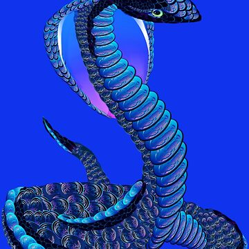 A Big Blue Snake by Lotacats