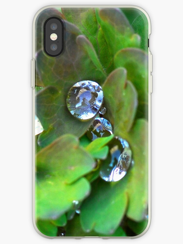 Raindrops IPhone case by Heather Thorsen