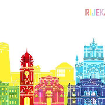 Rijeka skyline pop in editable vector file by paulrommer