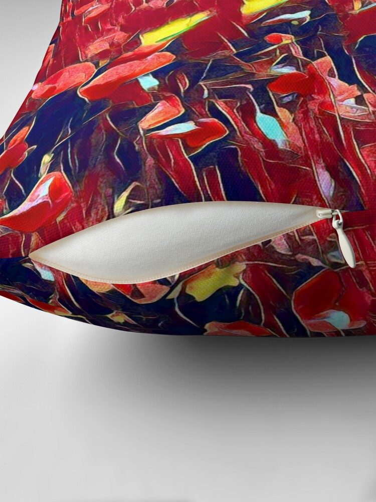 Alternate view of Magical poppy field Throw Pillow