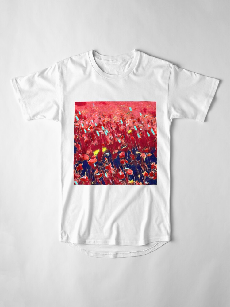 Alternate view of Magical poppy field Long T-Shirt