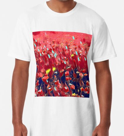 Magical poppy field Long T-Shirt