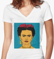 Frida Women's Fitted V-Neck T-Shirt