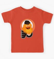 The head of mascot Gritty the Flyers Kids Tee