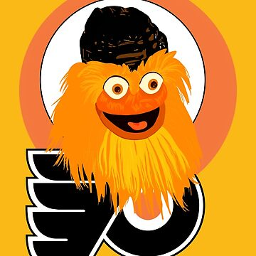 The head of mascot Gritty the Flyers by MimieTrouvetou