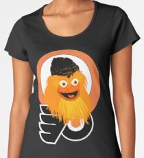 The head of mascot Gritty the Flyers Women's Premium T-Shirt