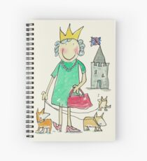 The Queen Corgis and Castle Spiral Notebook