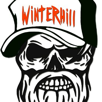 Winterhill Gang Boston Mass. Hipster Skull Trucker Cap Death by lemmy666