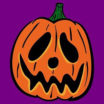 Vintage Halloween Jack O' Lantern - Orange by MOREDANKMEMES