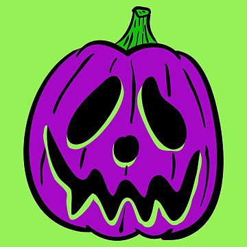 Vintage Halloween Jack O' Lantern - Purple by MOREDANKMEMES