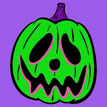 Vintage Halloween Jack O' Lantern - Green by MOREDANKMEMES
