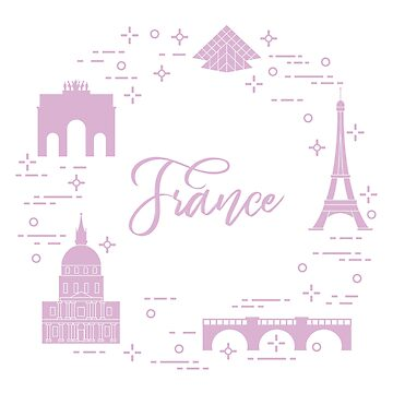 Famous buildings of Paris. Symbols and landmarks. by aquamarine-p