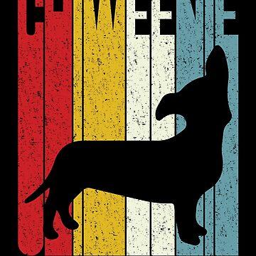 'Chiweenie Silhouette' Cute Chiweenie  Dog Gift by leyogi