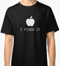 Camiseta clásica North & Geek - Apple lo arreglé parodia