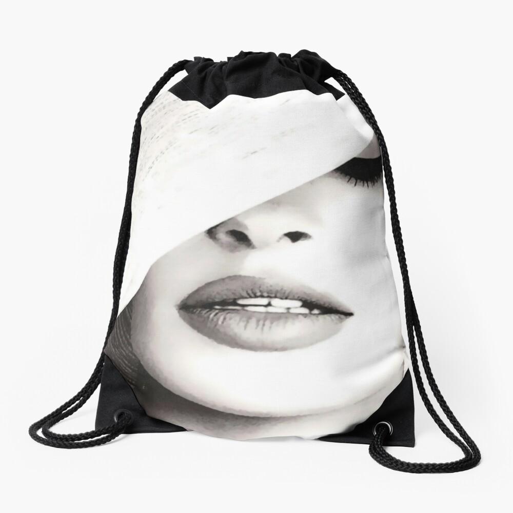 Vogue Covert Wall Art Drawstring Bag