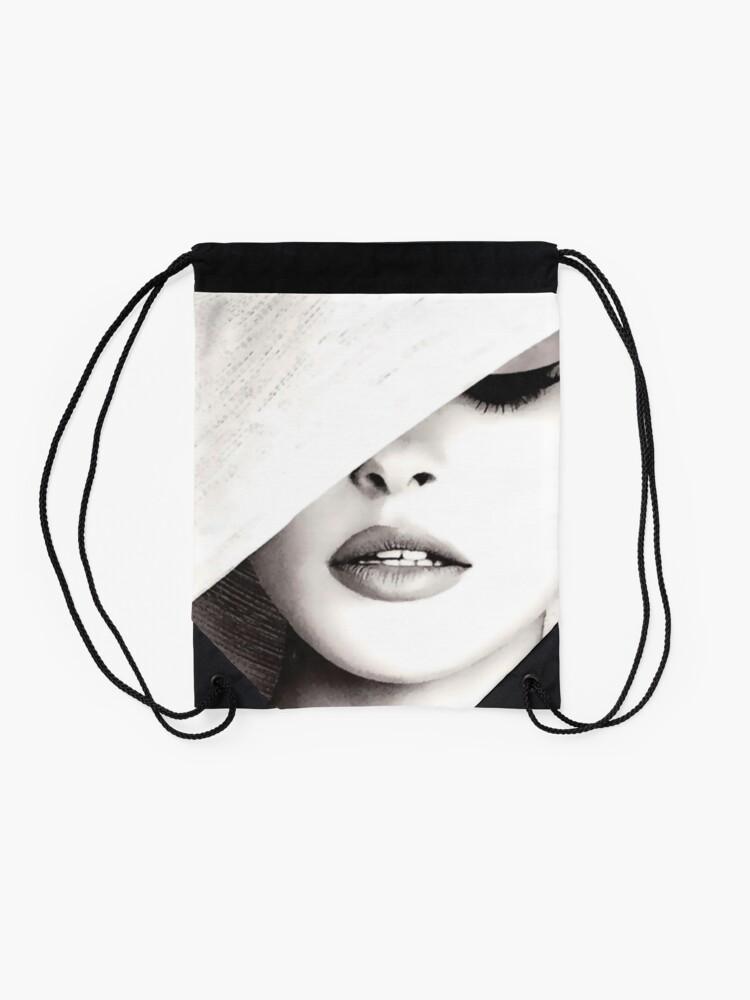 Alternate view of Vogue Covert Wall Art Drawstring Bag